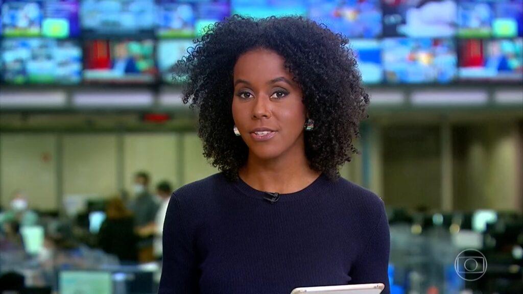 Maju Coutinho revelou início difícil como âncora do Jornal Hoje (foto: Reprodução/TV Globo)