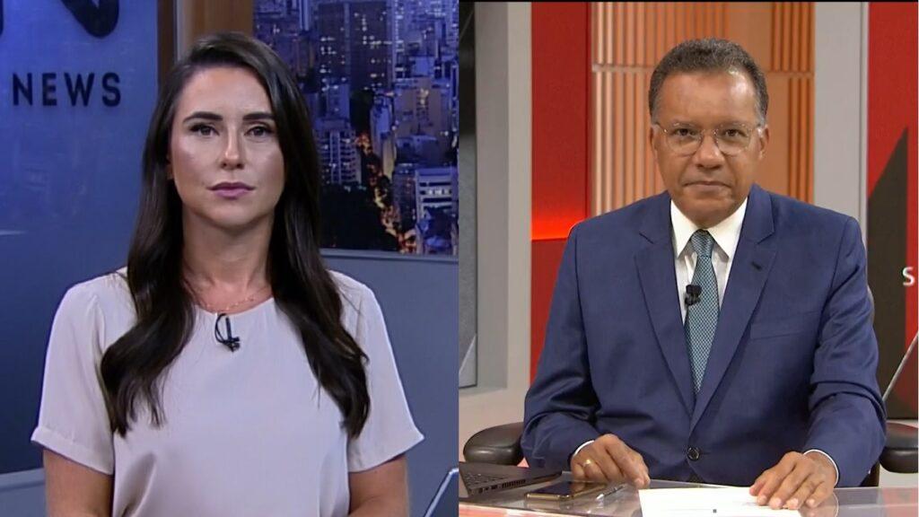Heraldo Pereira e o Jornal das 10 perderam a liderança para telejornal de Manoela Caiado (foto: Montagem/Record News e GloboNews)