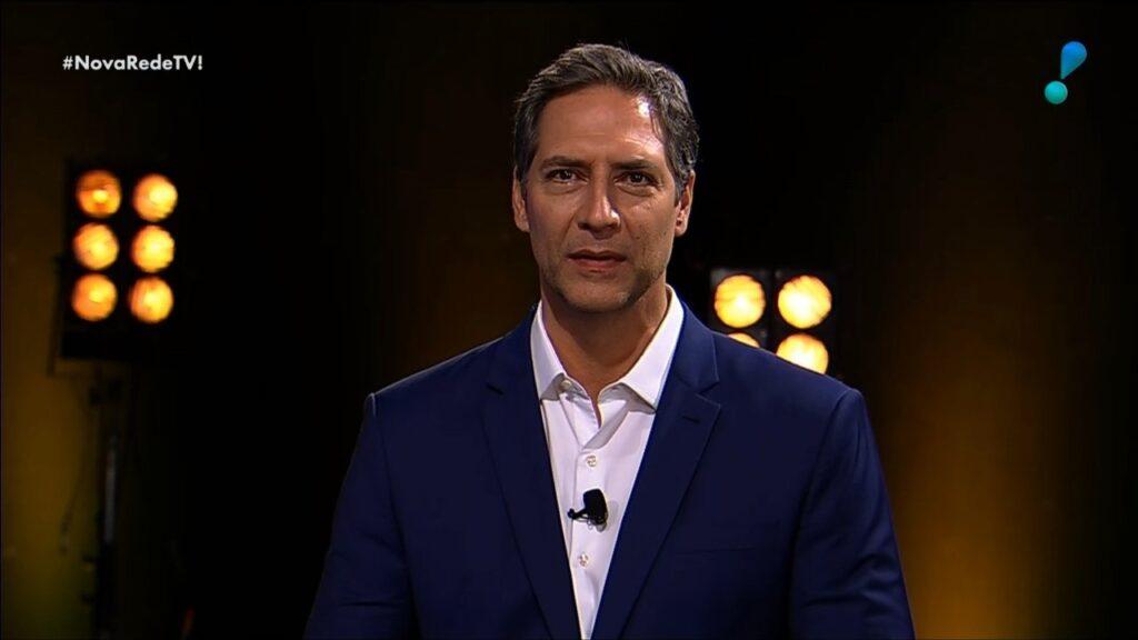Luís Ernesto Lacombe é um dos destaques da nova programação da RedeTV!: público não deu bola para apresentação das novidades da emissora (foto: Reprodução/RedeTV!)