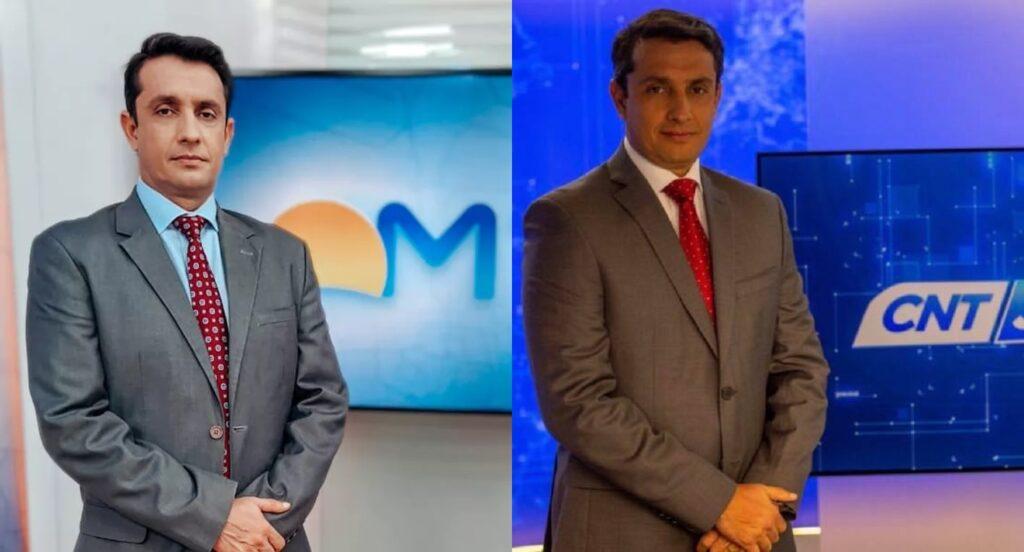 Odilon Araújo trocou o CNT Jornal pela ancoragem do Bom Dia Mato Grosso em uma afiliada da Globo (foto: Divulgação/TV Centro América e CNT)