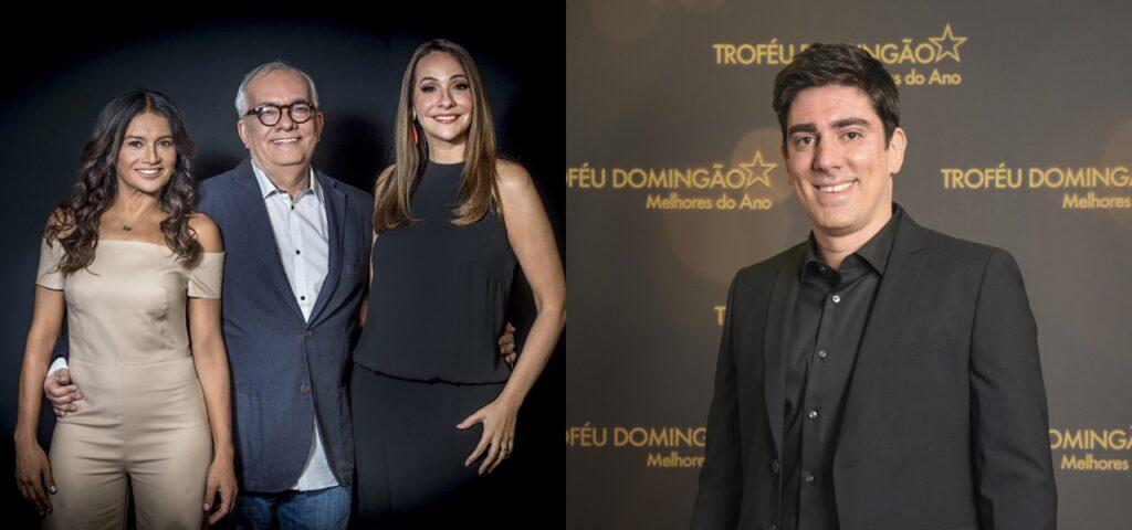 Além do tradicional trio da TV Globo, Marcelo Adnet comandará o Oscar com pegada humorística (foto: Montagem/TV Globo)