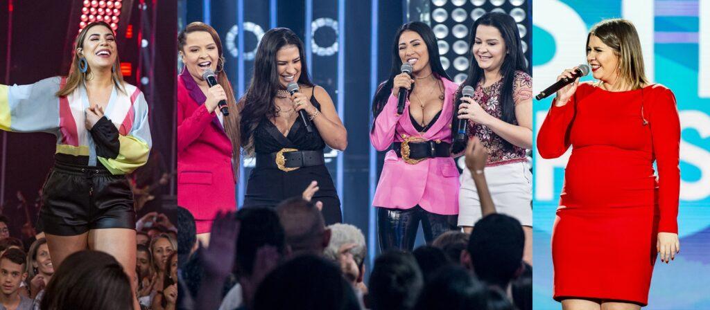 Marília Mendonça, Naiara Azevedo, Maiara & Maraisa e Simone & Simaria vão fazer a versão feminina de Amigos (foto: Divulgação/TV Globo)