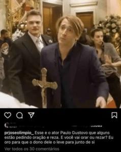 Em publicação no Instagram, pastor diz orar pela morte de Paulo Gustavo (foto: Reprodução/Instagram)