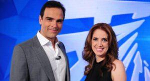 Poliana Abritta e Tadeu Schmidt são os apresentadores do Fantástico (foto: Divulgação/TV Globo)