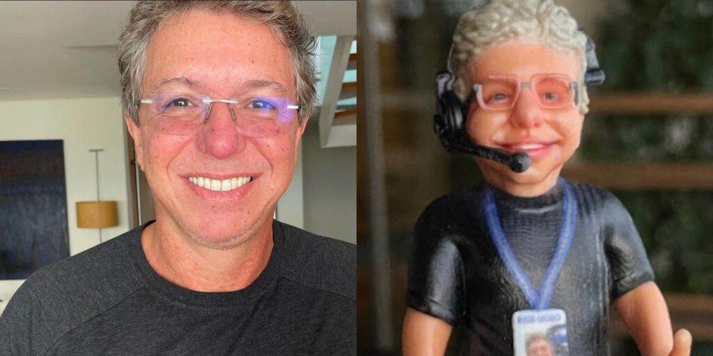 Sonia Abrão enviou um boneco de presente para Boninho, mas Ana Furtado viu semelhanças com Palmirinha (foto: Reprodução)