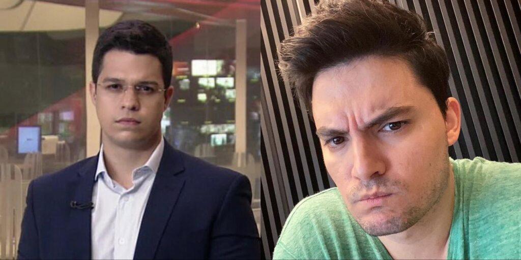 Ricardo Abreu, da GloboNews, ameaçou enviar boletos para Felipe Neto pagar (foto: Reprodução/Redes Sociais)