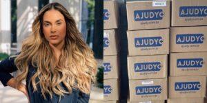 Sarah Andrade fez doação de 10 mil máscaras para um projeto social (foto: Reprodução)