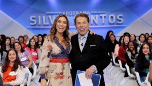 Silvio Santos posa ao lado de Patricia Abravanel: Vem Pra Cá está na corda bamba com menos de um mês no ar (foto: Divulgação/SBT)