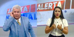 Sikêra Jr. largou o Alerta Nacional e foi substituído às pressas por Mayara Rocha (foto: Reprodução/RedeTV!)