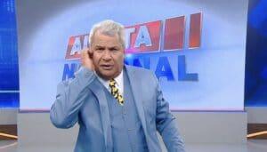 Sikêra Jr. passou mal após barrigada em reportagem do Alerta Nacional (foto: Reprodução/RedeTV!)
