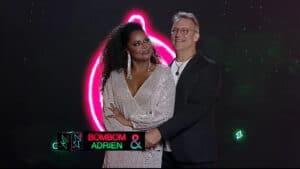 Adriana Bombom e Adrien Cunha estão fora do Power Couple Brasil (foto: Divulgação/Record)