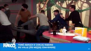 Tomé Abduch, ex-comentarista da CNN Brasil, foi o responsável por pancadaria generalizada no Pânico (foto: Reprodução/Jovem Pan)