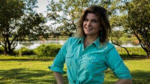 Cristiana Oliveira interpretou a protagonista de Pantanal na primeira versão da novela (foto: Globo/Gabriel Nascimento)