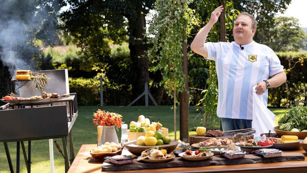 Erick Jacquin mostra de perto a culinária da Argentina no Minha Receita (foto: Kelly Fuzaro/Band)