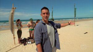 André Marques no primeiro episódio de No Limite 5: estreia com pior audiência da história (foto: Reprodução/TV Globo)