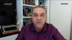 Luis Roberto, narrador da Globo, ficou nervoso com decisão de realizar a Copa América no Brasil (foto: Reprodução)