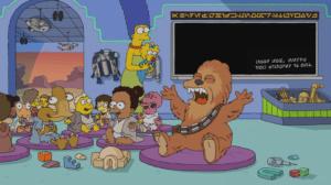 Maggie Simpson é introduzida ao universo Star Wars em novo curta de Os Simpsons (foto: Reprodução/Disney+)