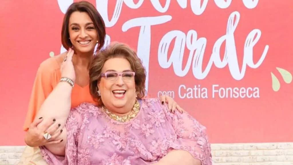 Mamma Bruschetta com a apresentadora Cátia Fonseca (foto: Reprodução)
