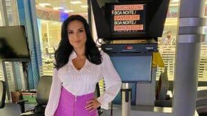 Márcia Dantas, apresentadora do SBT Brasil, atropelou segurança do SBT (foto: Reprodução/Instagram)