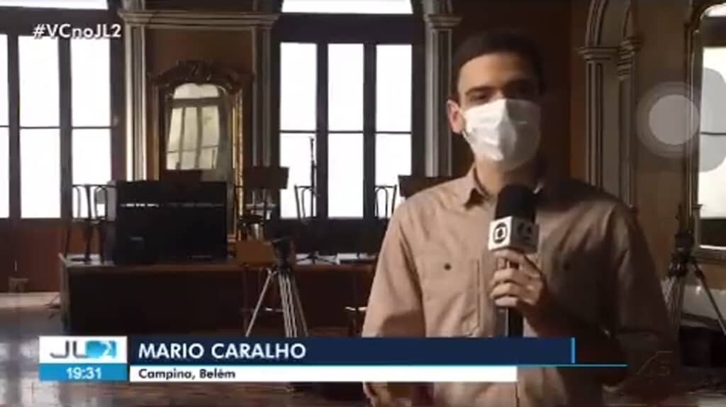 Globo do Pará erra na digitação e escreve palavrão no nome de repórter (foto: Reprodução/TV Liberal)