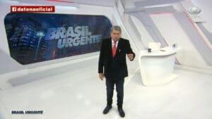 """Datena foi condenado por chamar Xuxa de """"garota de programa"""" e """"imbecil"""" no Brasil Urgente (foto: Reprodução)"""