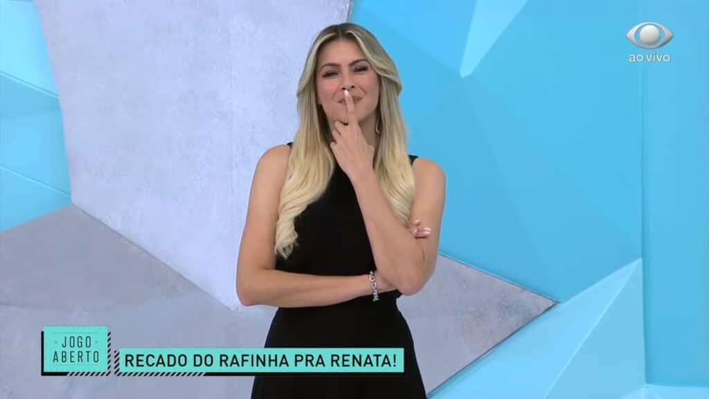Renata Fan é alvo de brincadeiras no Jogo Aberto e ganha do SBT (foto: Reprodução/Band)