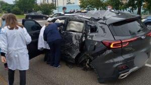 Raphael Polito, apresentador do Balanço Geral SC, sofreu acidente de carro (foto: Reprodução/Instagram)