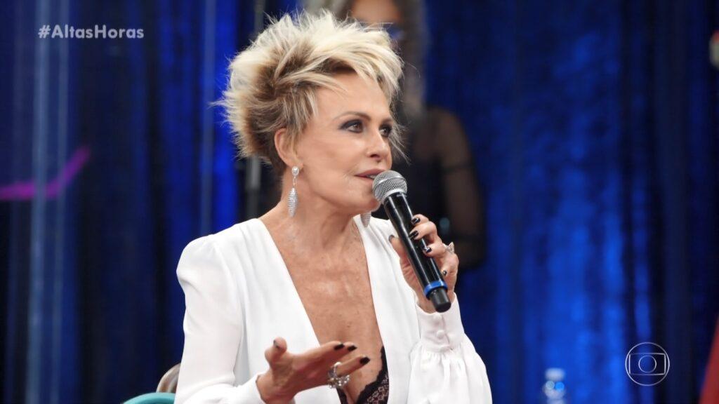 Ana Maria Braga falou sobre a morte de Louro José em participação no Altas Horas (foto: Reprodução/TV Globo)