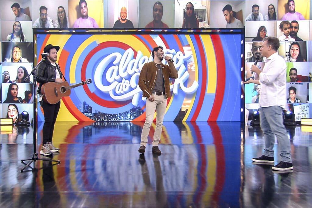Israel & Rodolffo estreiam no palco do Caldeirão do Huck com música inédita (foto: Globo/Divulgação)