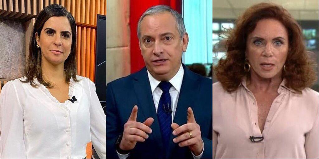 Camila Bomfim, José Roberto Burnier e Leilane Neubarth vão dividir novo telejornal da GloboNews (foto: Reprodução)