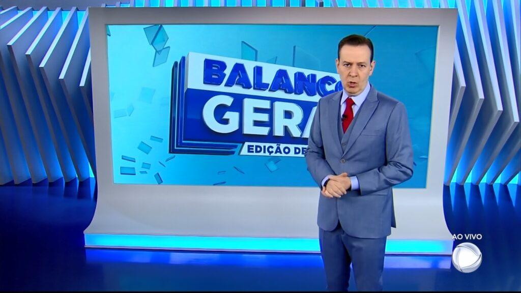 Celso Zucatelli no Balanço Geral de 29 de maio: apresentador ficou sem função na Record (foto: Reprodução/Record)