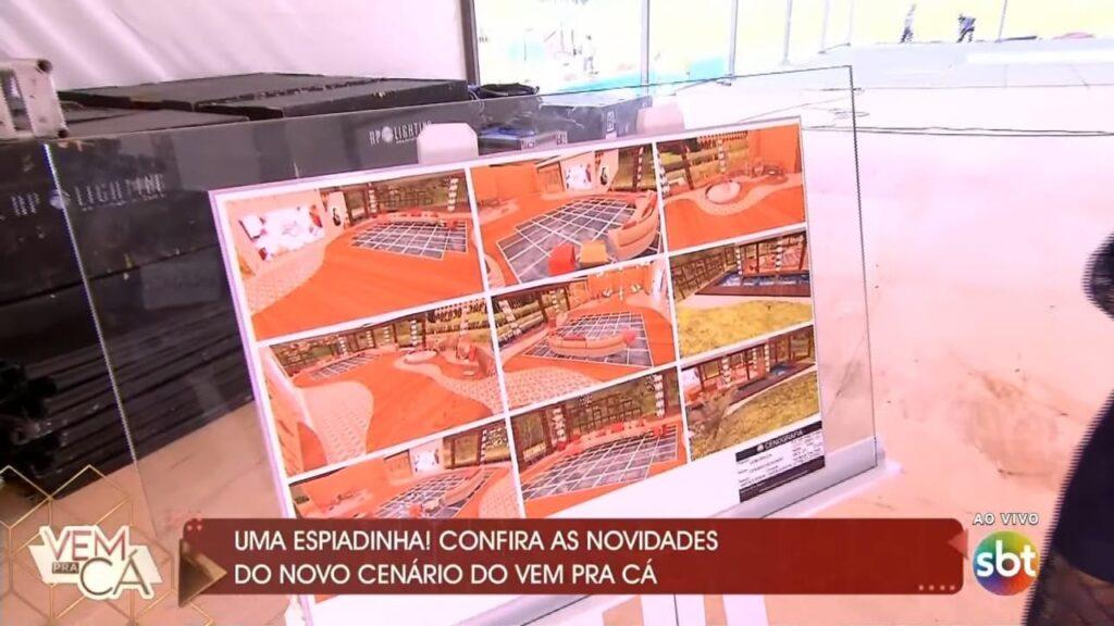 Novo cenário do Vem Pra Cá terá piso de vidro (foto: Reprodução/SBT)