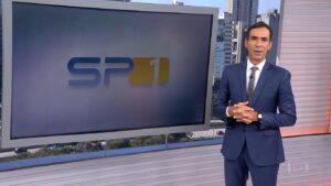 Após dez anos, César Tralli deixará o comando do SP1 e irá para a GloboNews (foto: Reprodução/TV Globo)