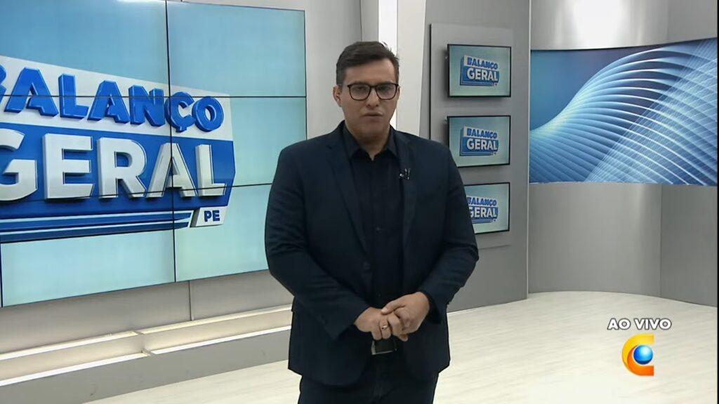 Fábio Araújo largou o Balanço Geral PE e assinou com a TV Jornal, afiliada do SBT (foto: Reprodução/TV Clube)