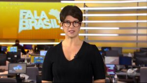 Mariana Godoy no Fala Brasil de 26 de maio: perdeu até para o Vem Pra Cá (foto: Reprodução/Record)