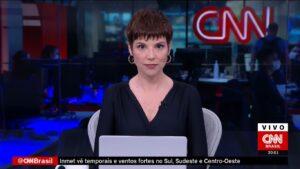Glória Vanique no Jornal da CNN de 22 de maio: três exibições em cinco horas (foto: Reprodução/CNN Brasil)