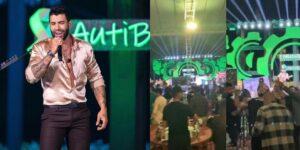 Live de Gusttavo Lima teve aglomeração nos bastidores (foto: Reprodução)