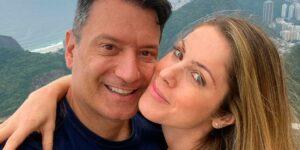 Jacqueline Brazil e Luiz Carlos Jr. completaram um ano de relacionamento (foto: Reprodução)