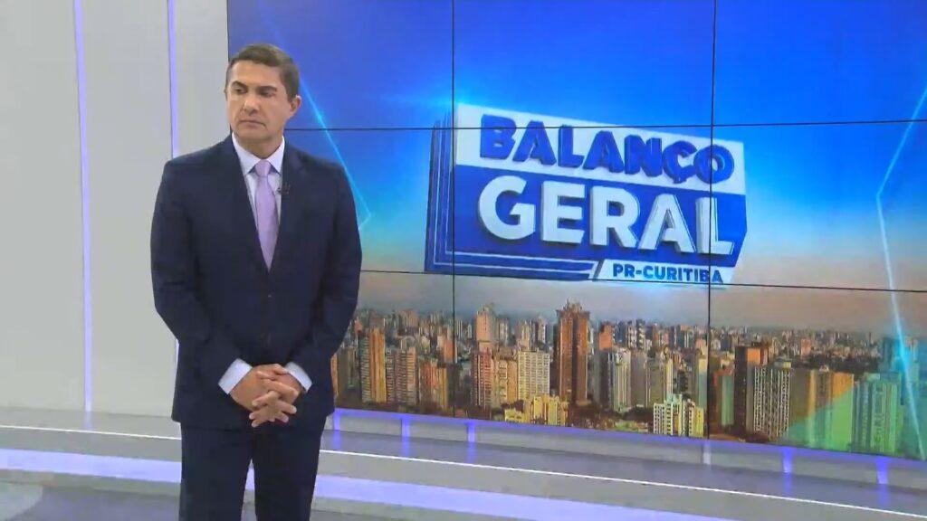 Jasson Goulart ainda não decolou no comando do Balanço Geral Curitiba (foto: Reprodução/RIC Record)