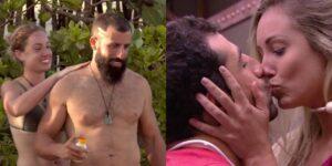 Jéssica e Kaysar voltaram a se encontrar em No Limite: casal protagonizou cenas quentes no BBB 18 (foto: Reprodução/TV Globo)