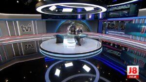 Cenário principal do jornalismo da TVI: emissora será a responsável pela CNN Portugal (foto: Reprodução/TVI)