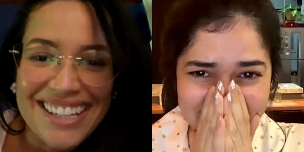 Juliette Freire surpreendeu fã e entrou de surpresa em live (foto: Reprodução)
