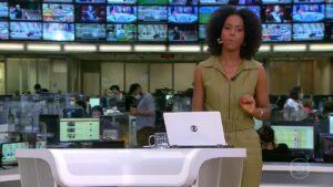 Maju Coutinho no Jornal Hoje de 20 de maio: pior audiência do ano (foto: Reprodução/TV Globo)