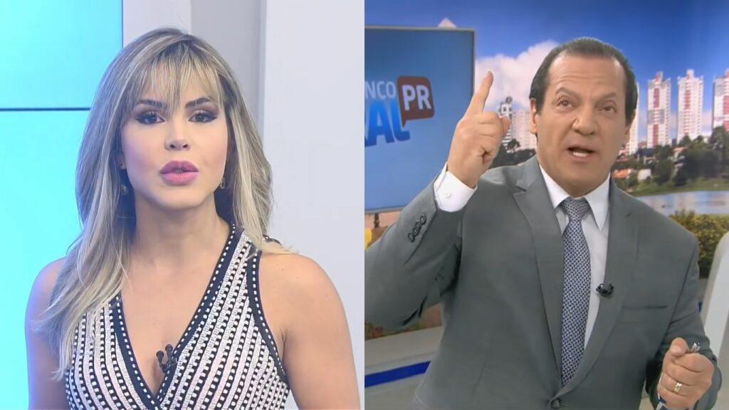 Mariana Martins e Gilberto Ribeiro foram demitidos pela Record após publicação de fotos com roupa de banho (foto: Reprodução/Record)