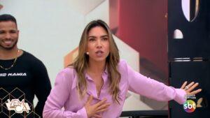 Patricia Abravanel convocou pastores para tirarem espíritos ruins do Vem Pra Cá (foto: Reprodução/SBT)