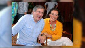 Georgia Pinheiro foi casa com Paulo Henrique Amorim durante nove anos (foto: Reprodução/Record)