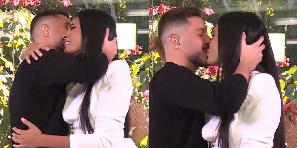 Pocah se emocionou com pedido de casamento ao vivo no programa de Ana Maria Braga (foto: Reprodução/TV Globo)