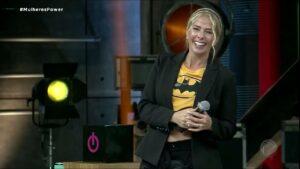 Adriane Galisteu no segundo episódio do Power Couple Brasil: apresentadora venceu Ratinho e Benjamin Back (foto: Reprodução/Record)