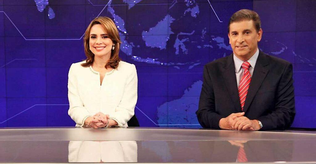Rachel Sheherazade e Carlos Nascimento tinham richa nos bastidores do SBT Brasil (foto: Divulgação/SBT)