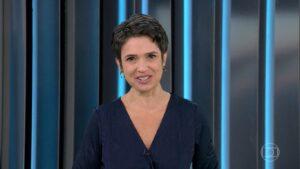Sandra Annenberg no Globo Repórter de 7 de maio: queda de quase 30% em relação ao Big Brother (foto: Reprodução/TV Globo)